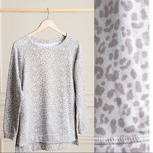 The Zip Pullover -  Leopard Gray